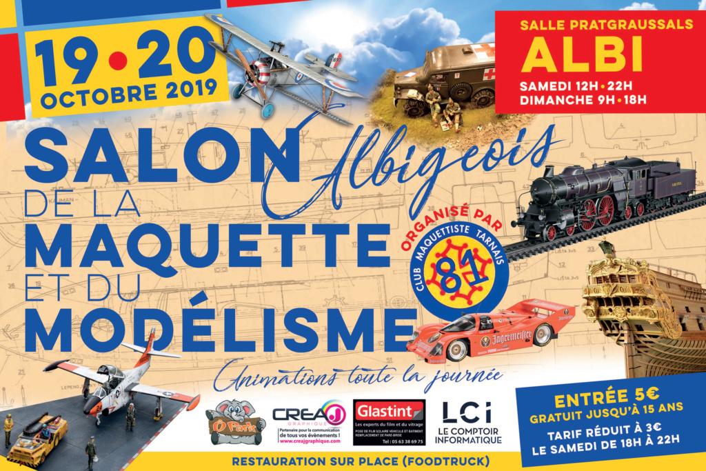 Salon de la maquette albigeois Octobre 2019 Affich11