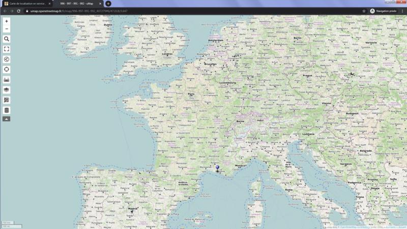 Carte de localisation en service , Sans_t30