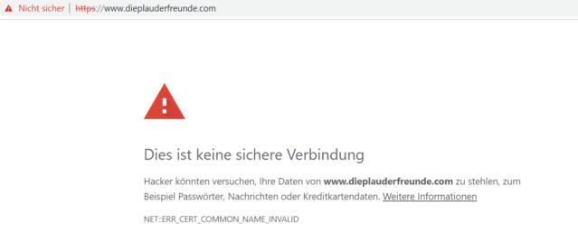 Https freigeschaltet und bekomme nur noch Warnungen vom Browser Nicht_10