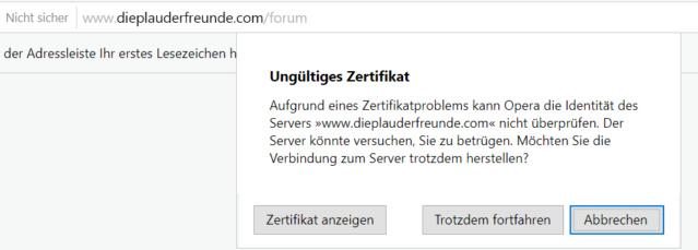 Https freigeschaltet und bekomme nur noch Warnungen vom Browser Ungzlt10