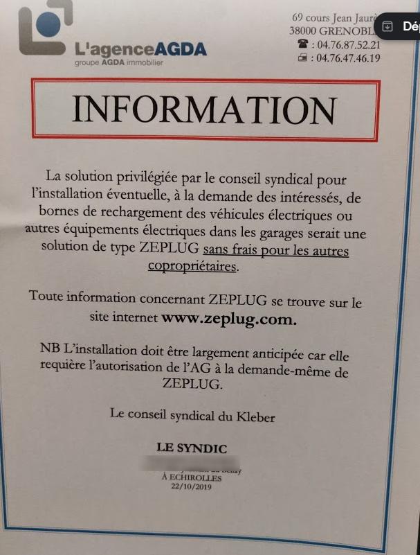 Retour d'experience sur la mise en place d'une infrastructure Zeplug en copropriété  2019-117