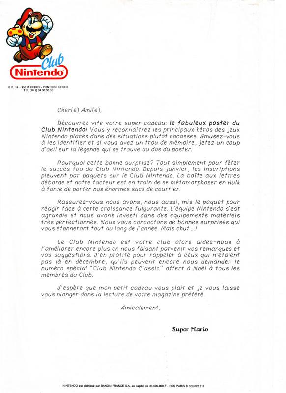 """Magazine """"Club Nintendo"""" Lettre10"""