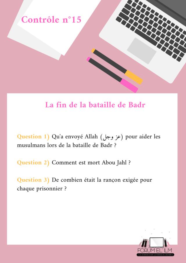 Les passages de la vie du Messager d'Allah (ﷺ)  10/14 ans - Devoirs _contr27