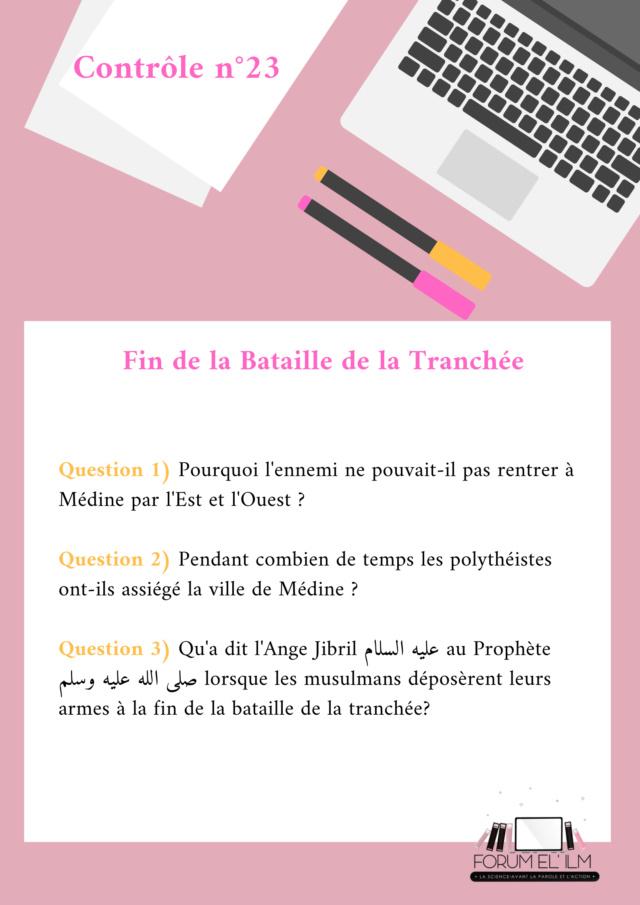 Les passages de la vie du Messager d'Allah (ﷺ)  10/14 ans - Devoirs _contr35