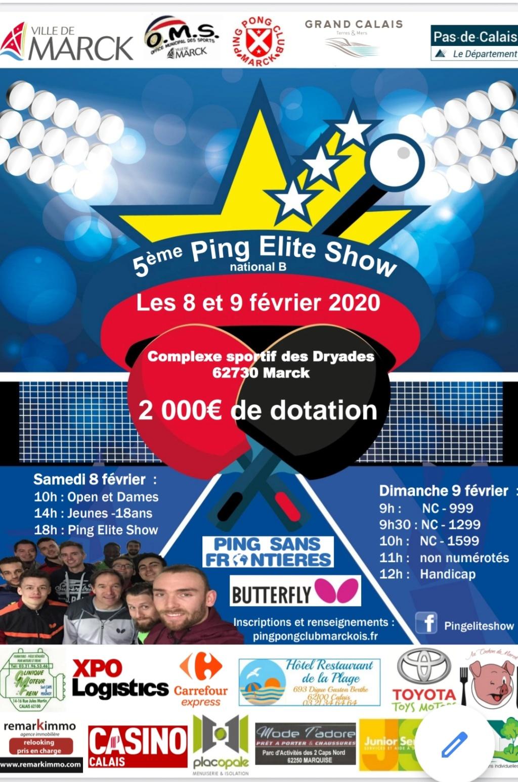 Ping Elite Show 5 les 8 et 9 février 2020 20191210