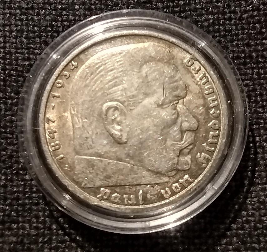 5 Reichmark 1936 A. III Reich, Alemania. Img_2018