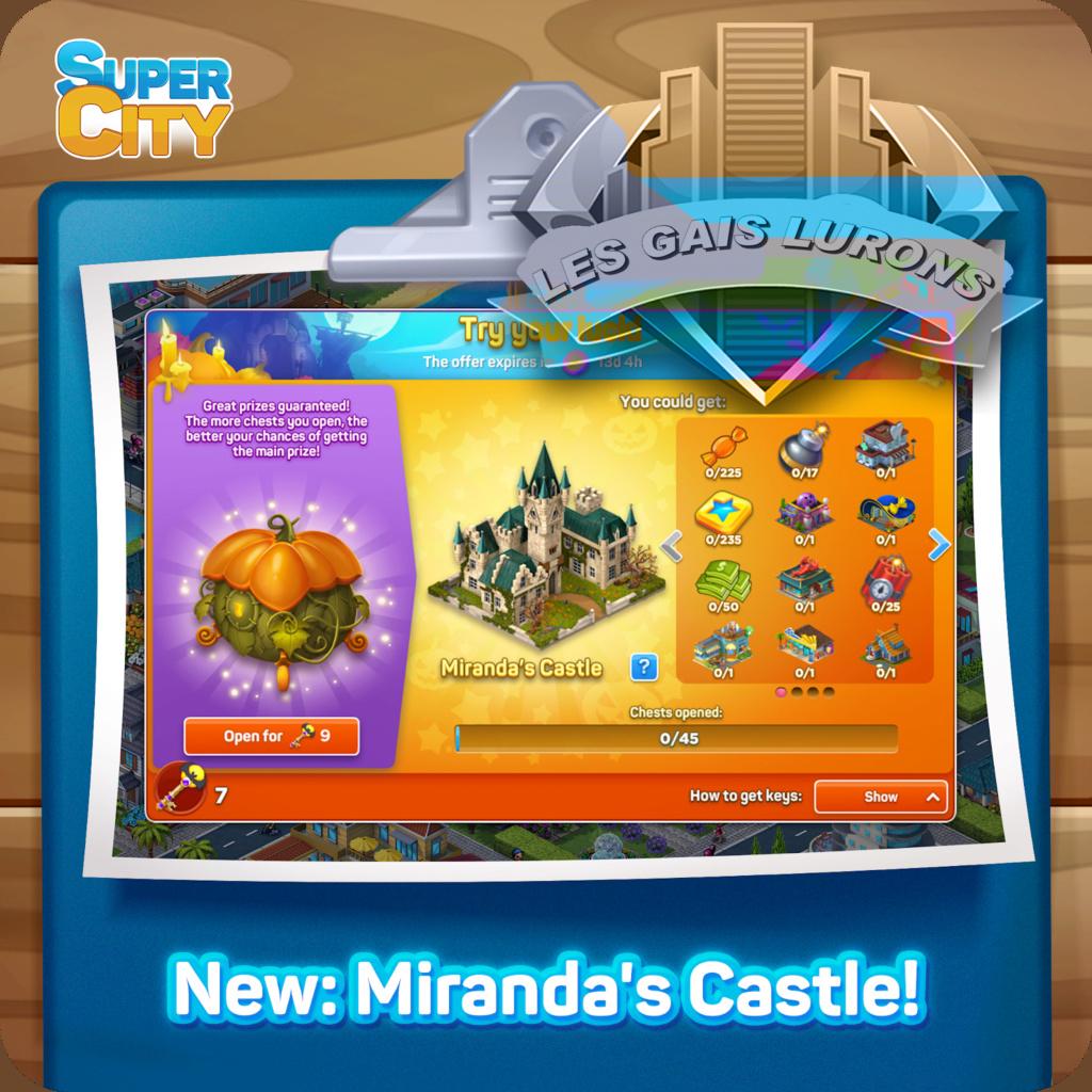 Nouveaux Coffres : le Château de Miranda! Forum14