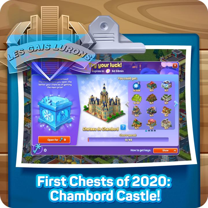 Premiers coffres de 2020: le château de Chambord! Forum21
