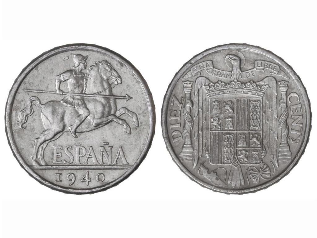 10 Centímos 1941 Estado Español. Variante PLVS VLTRA 10cts_10