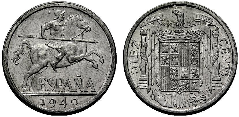 10 Centímos 1941 Estado Español. Variante PLVS VLTRA 10cts_11