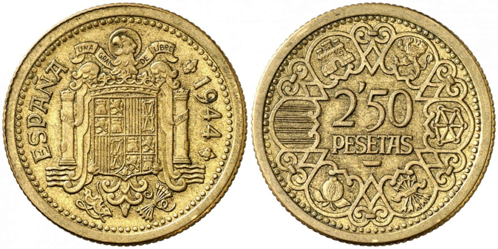 2,5 pesetas Estado Español - Página 5 1944_a10