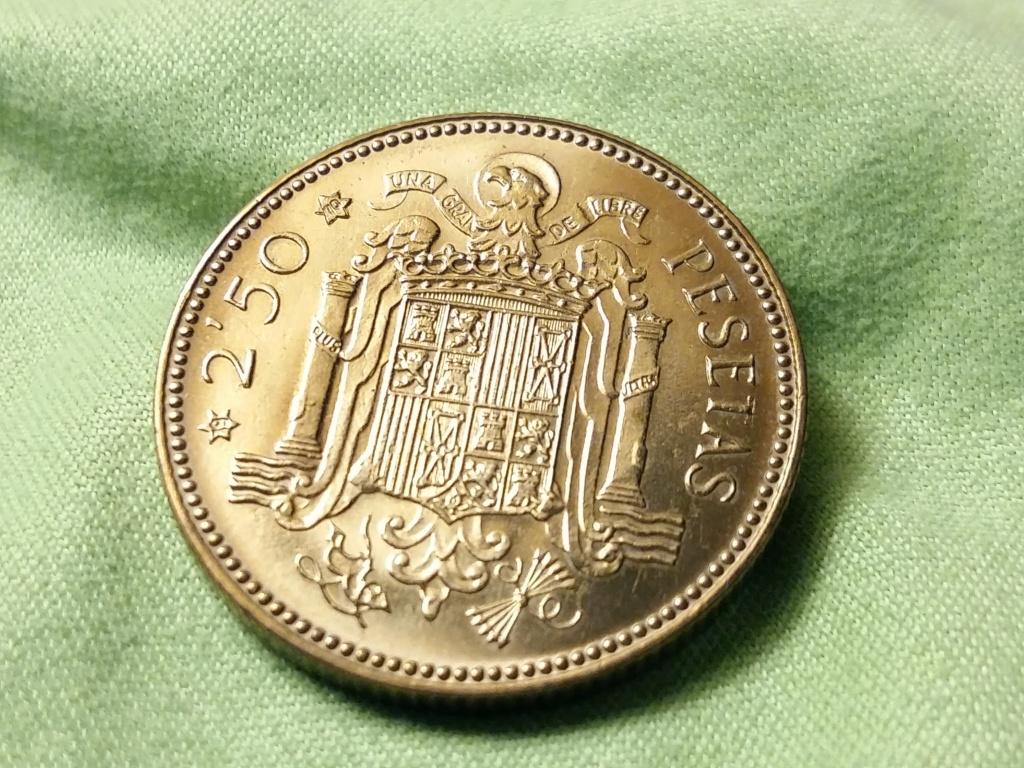 2,50 pesetas 1953 *70 Estado Español 20181119