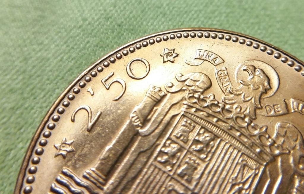 2,50 pesetas 1953 *70 Estado Español 20181120