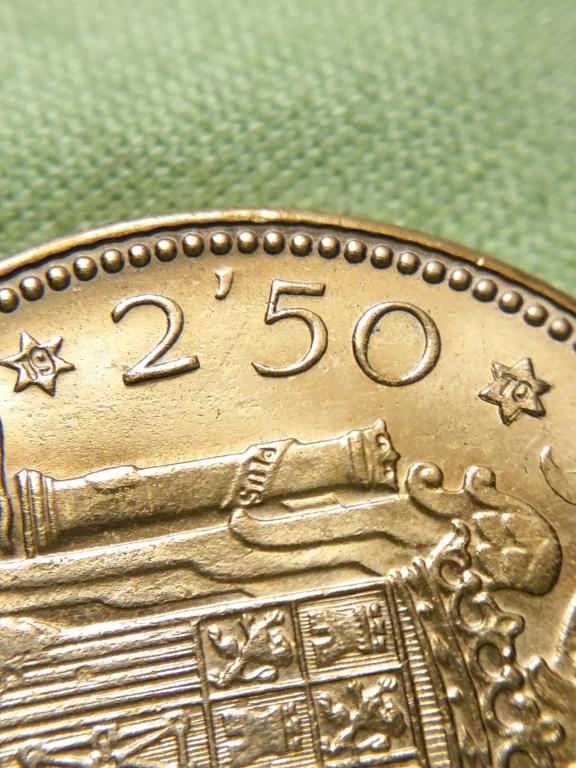 2,50 pesetas 1953 *70 Estado Español 20181123