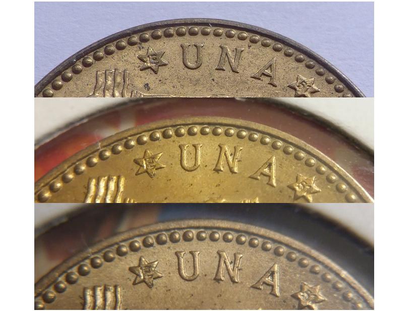 1 pesetas 1947 (E-51). Estado Español Cancer10