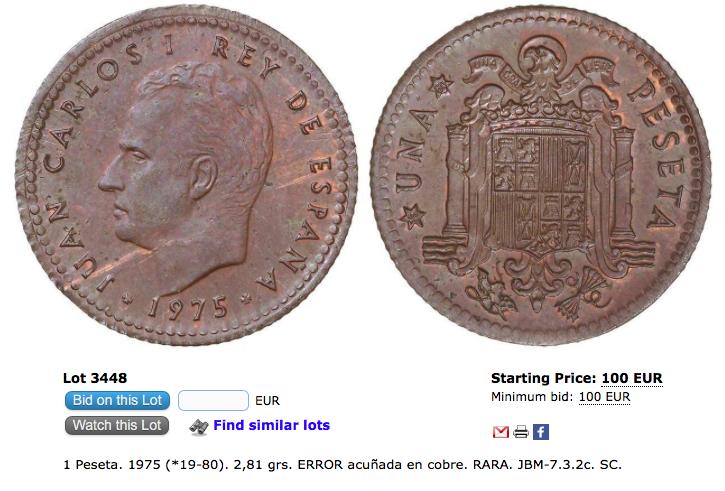 25 pesetas 1975. Juan Carlos I. Plata. Opinión Captur28