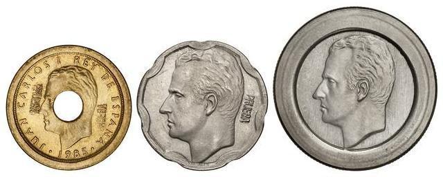 Pruebas 200 50 y 25 pesetas. Juan Carlos I Prueba12