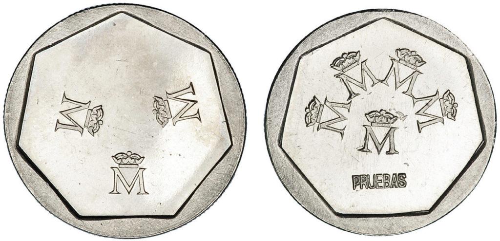 Pruebas 200 50 y 25 pesetas. Juan Carlos I Prueba14