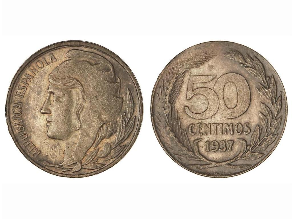 50 Céntimos de 1937. Prueba no adoptada. Opinión Prueba16