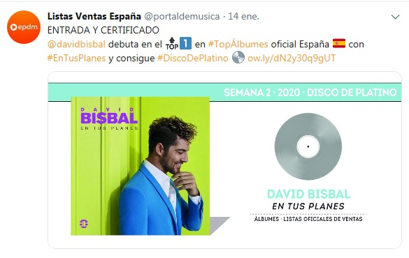 "David Bisbal>> Álbum ""En Tus Planes"" Disco10"