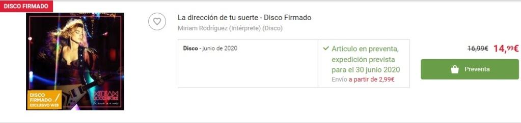 """Miriam Rodríguez >> álbum """"La dirección de tu suerte"""" - Página 5 Fnac11"""