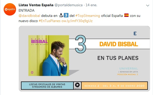 "David Bisbal>> Álbum ""En Tus Planes"" Stream11"