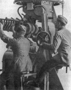Rack/chargeur mortier 5cm allemand M1910