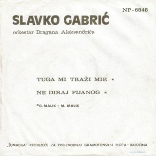 Slavko Gabic  1972 - Tuga mi trazi mir Zadnja34