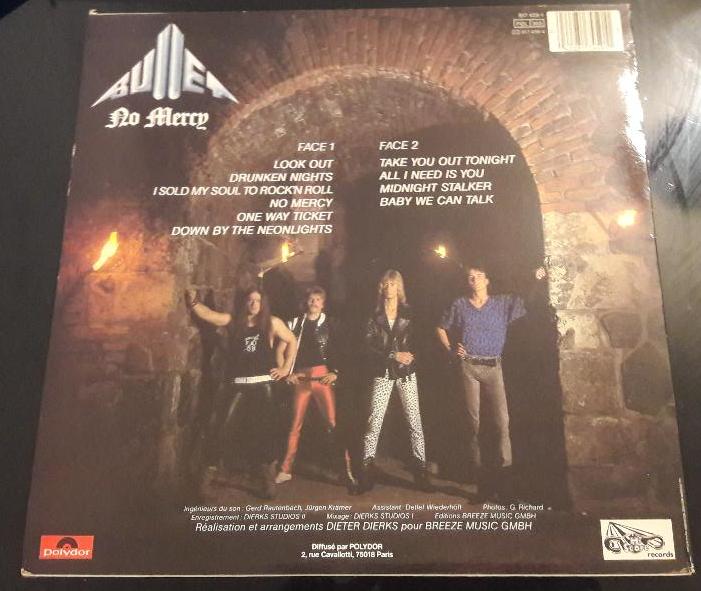 Bullet - No Mercy - 1983 - Allemagne Sans_t13