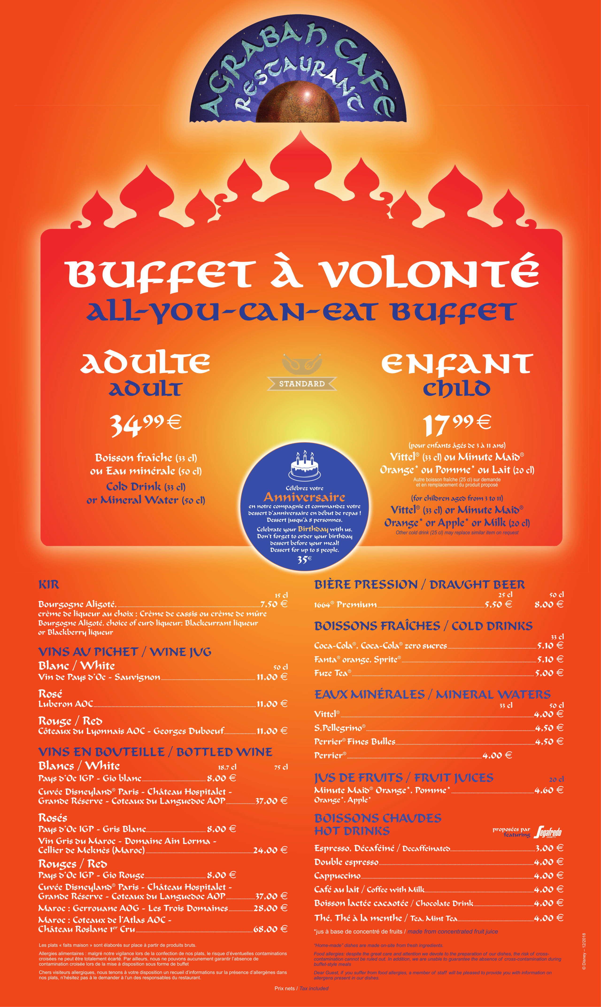 Menu ristoranti servizio Buffet Agraba11
