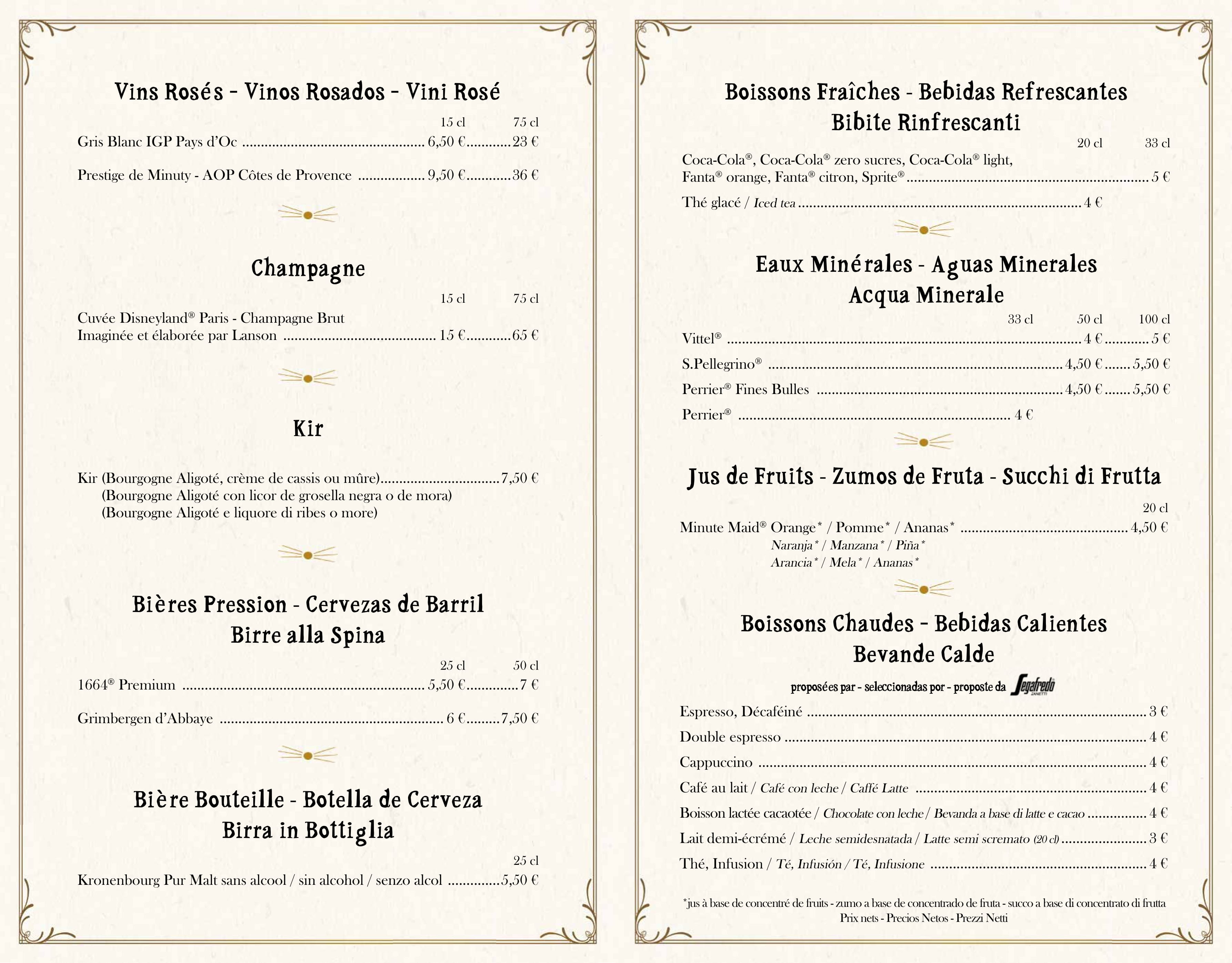 Menu ristoranti servizio al Tavolo Bistro15