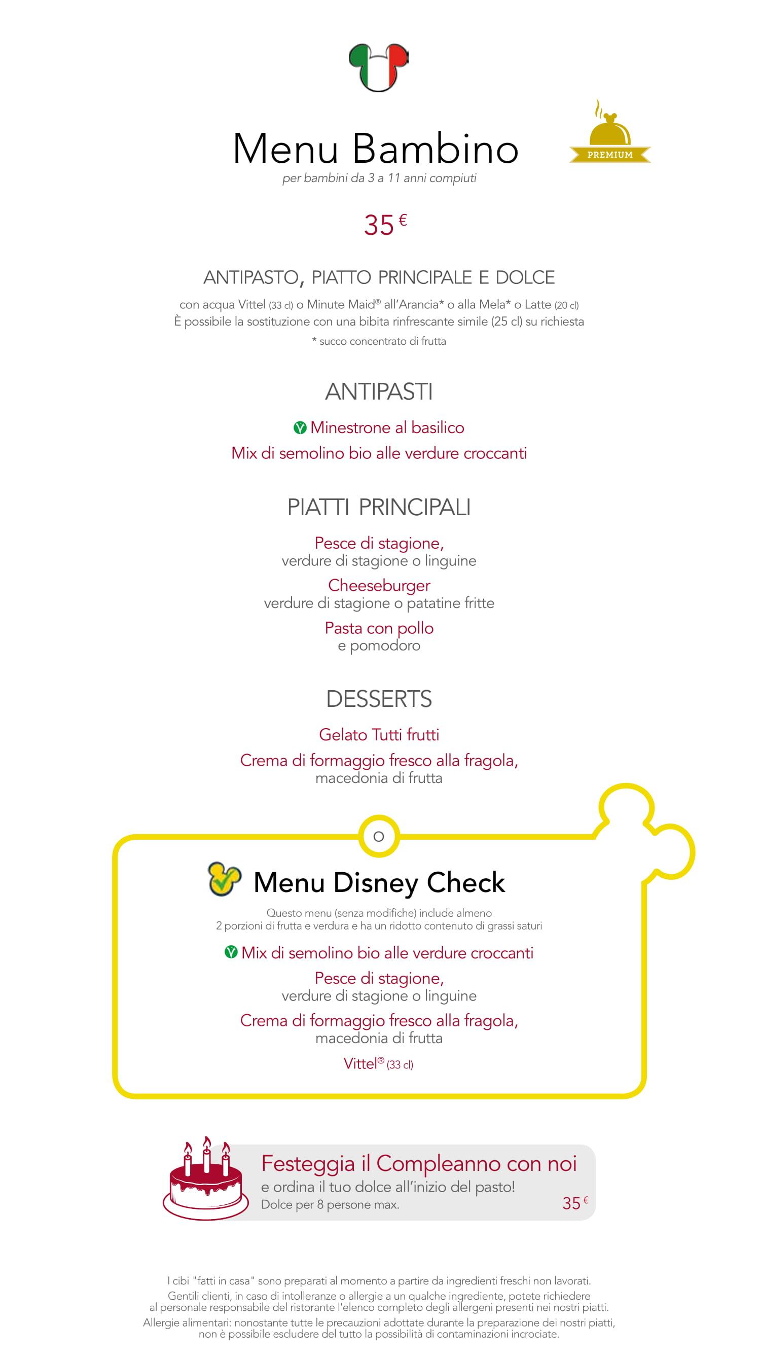 Menu ristoranti servizio al Tavolo Cafemi13