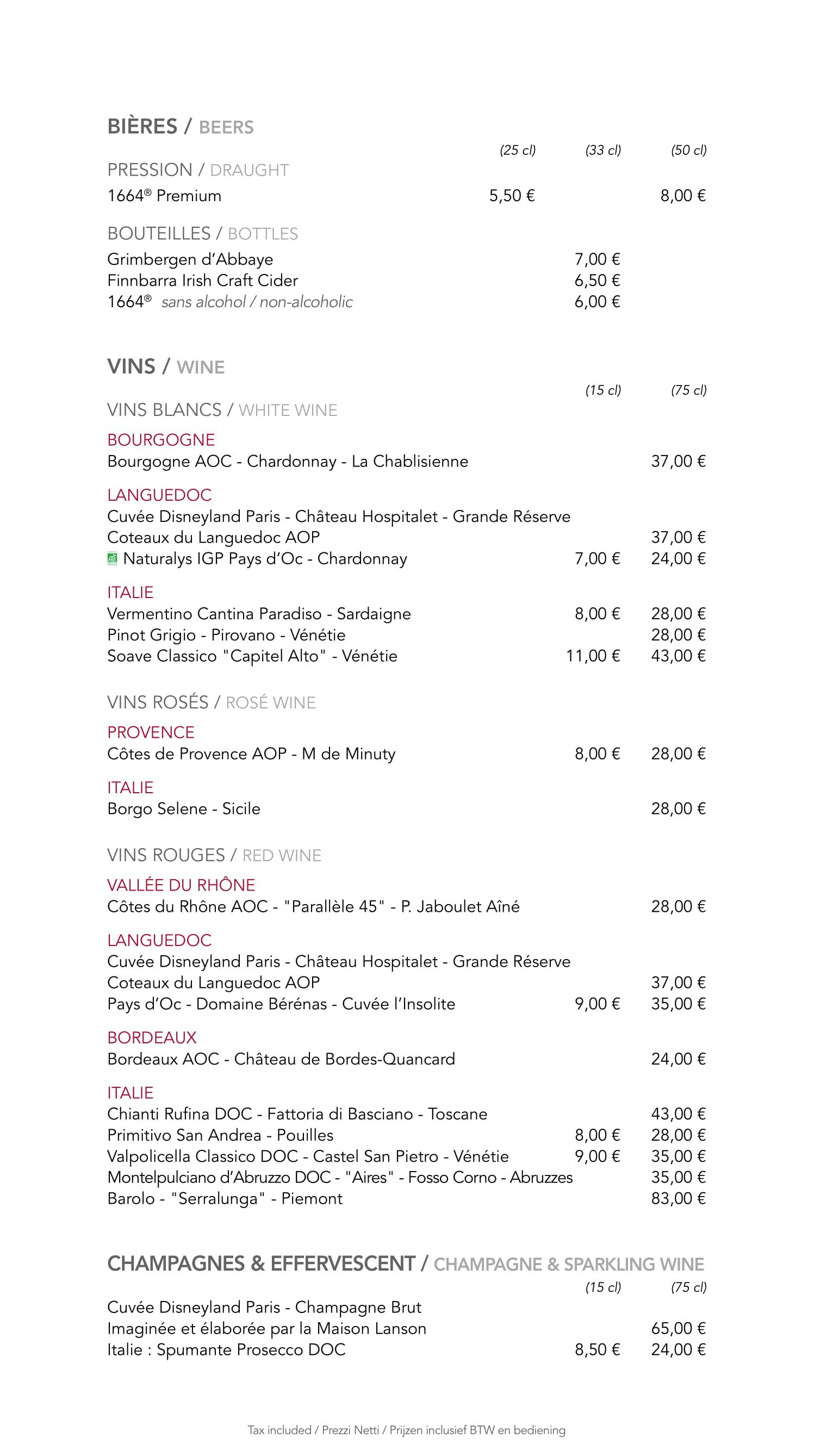 Menu ristoranti servizio al Tavolo Cafemi16