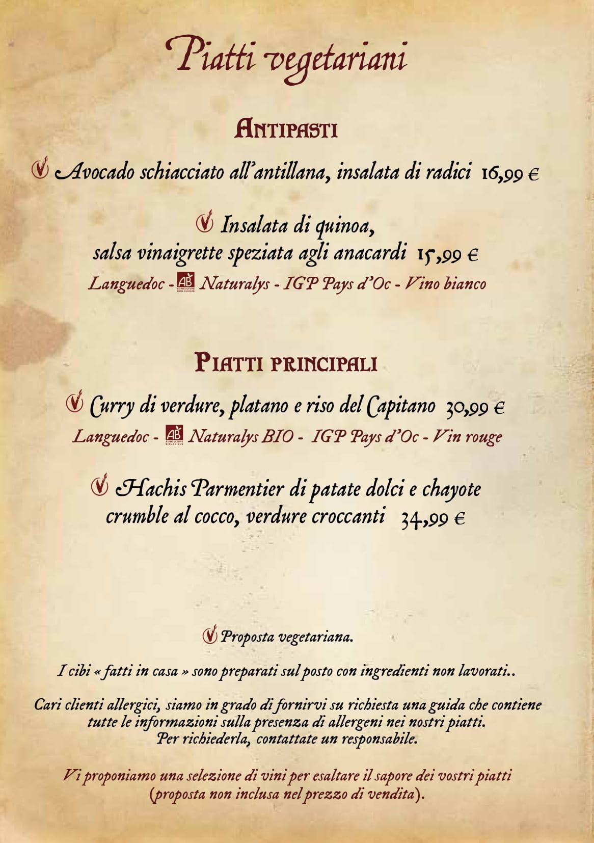Menu ristoranti servizio al Tavolo Captai10