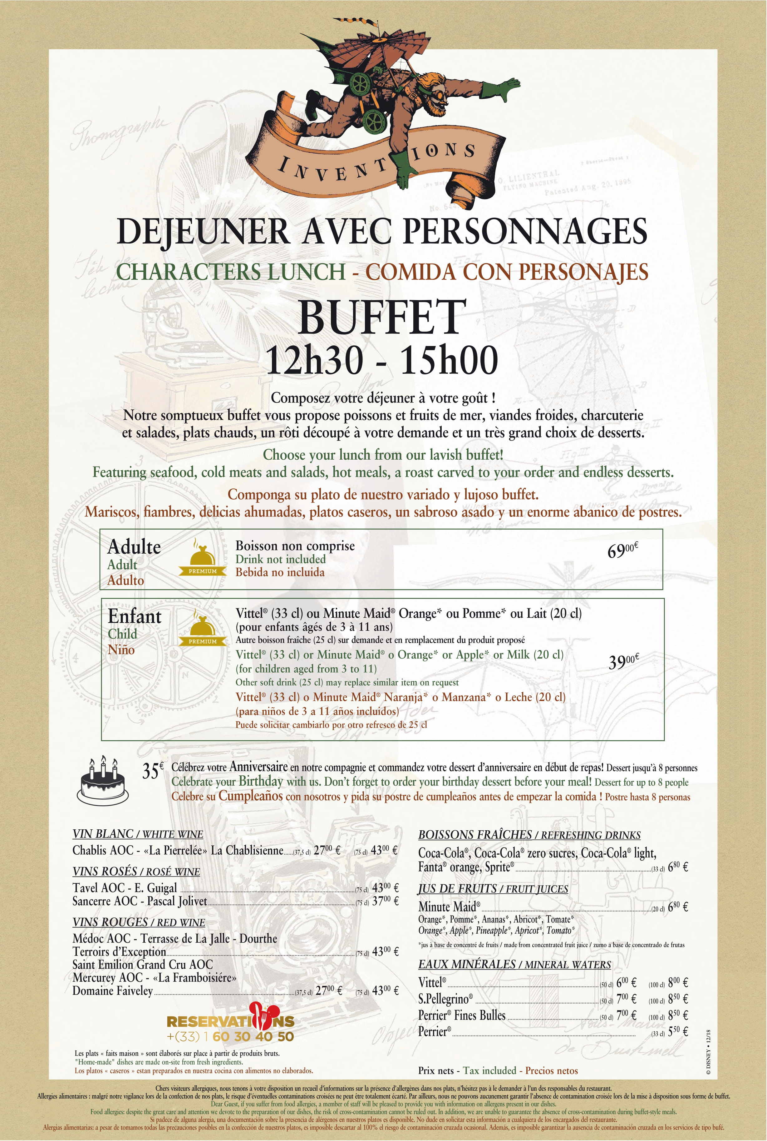 Menu ristoranti servizio Buffet Invent11