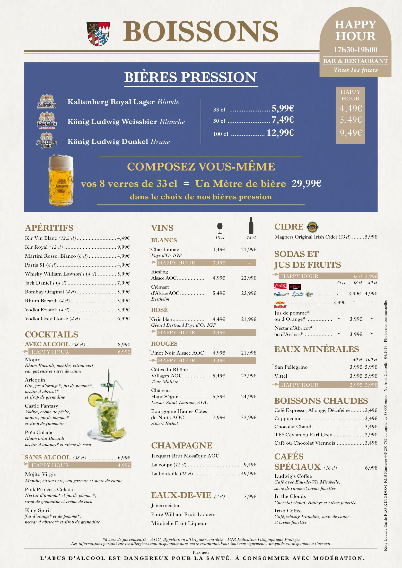 Menu ristoranti servizio al Tavolo King_l11