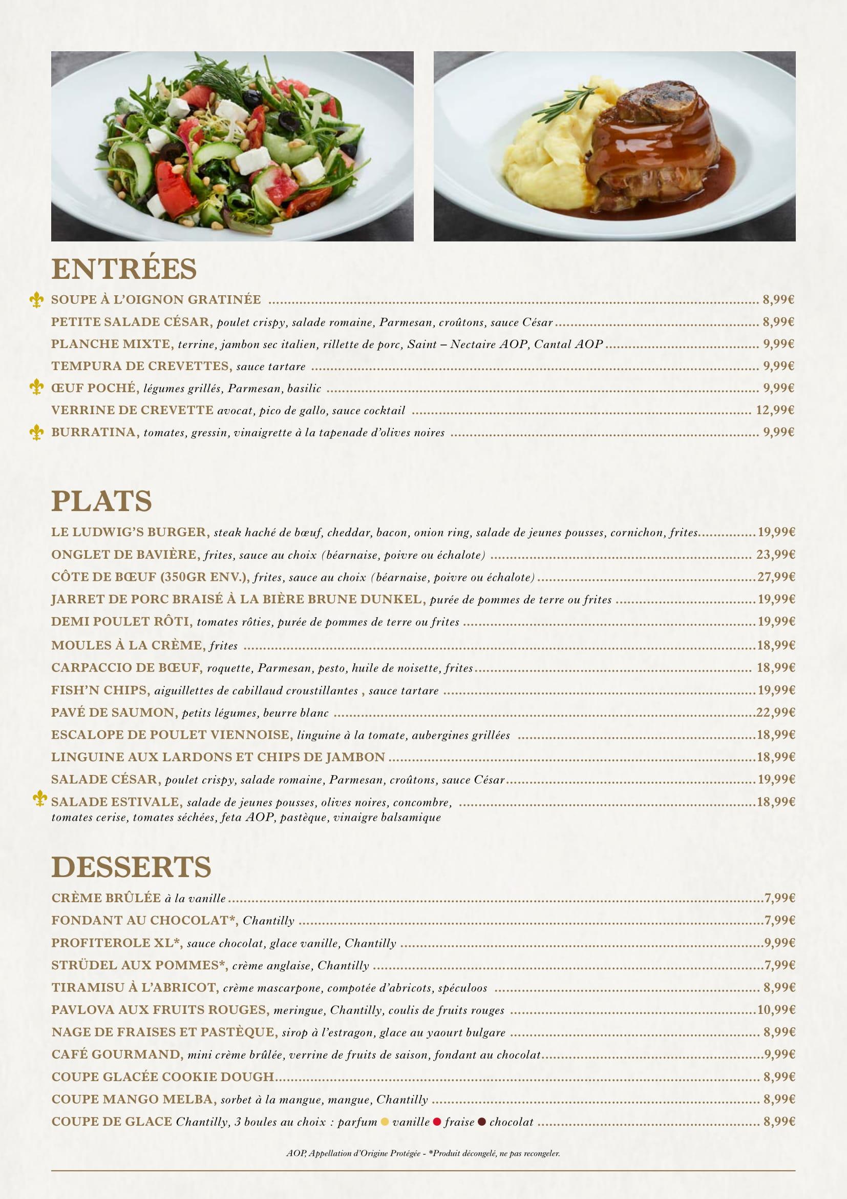 Menu ristoranti servizio al Tavolo King_l13