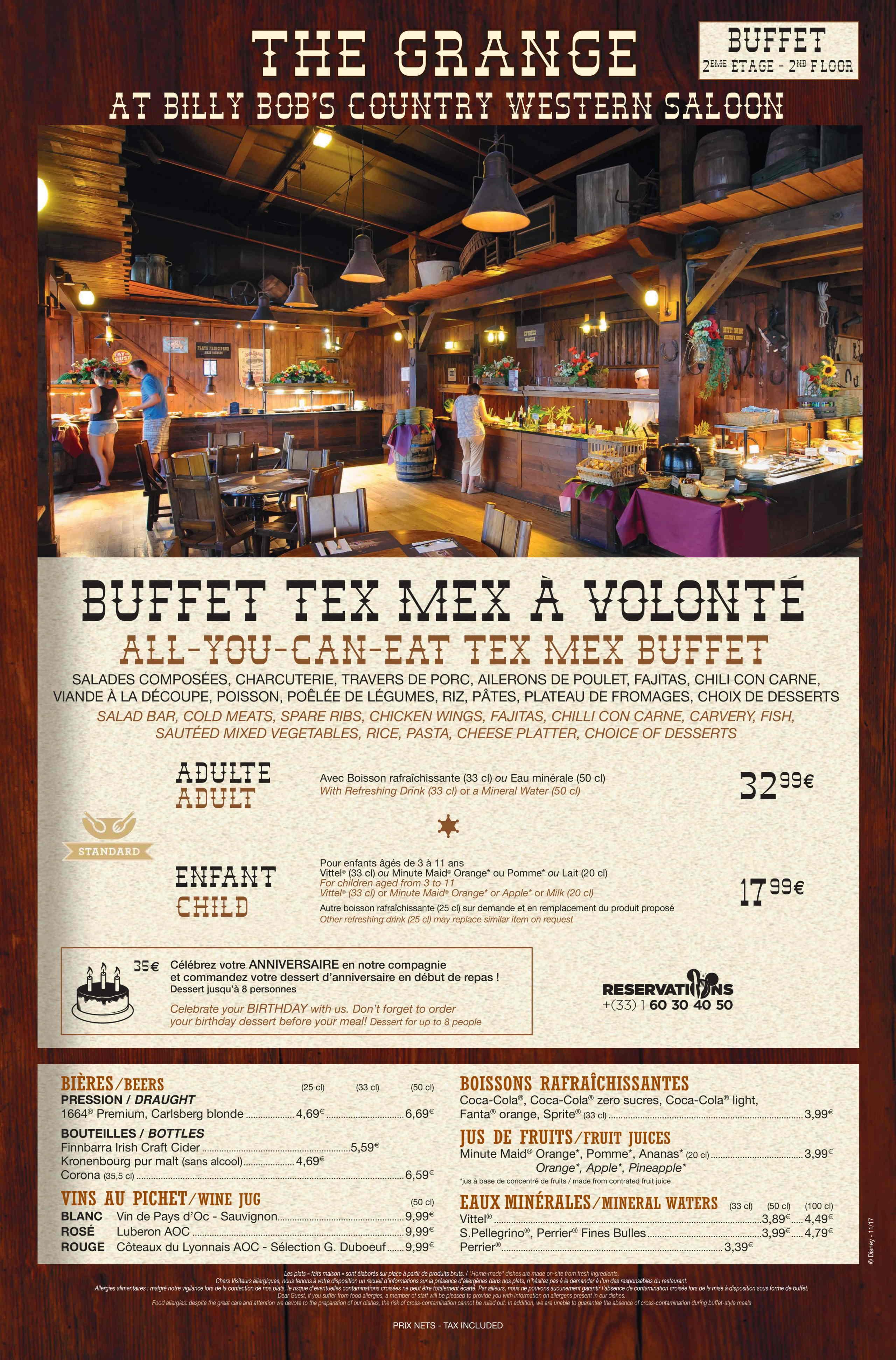 Menu ristoranti servizio Buffet La-gra11