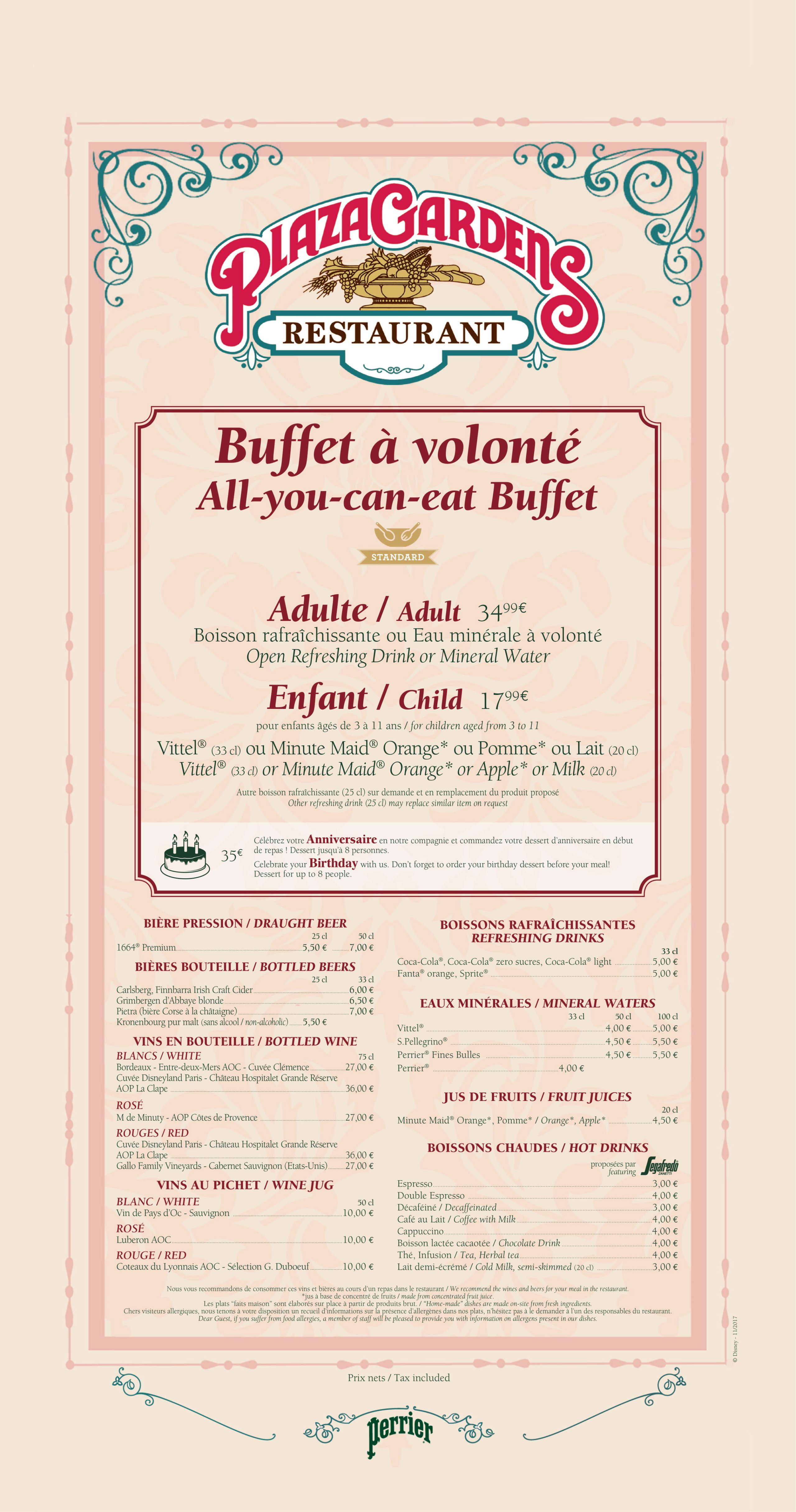 Menu ristoranti servizio Buffet Plaza-10