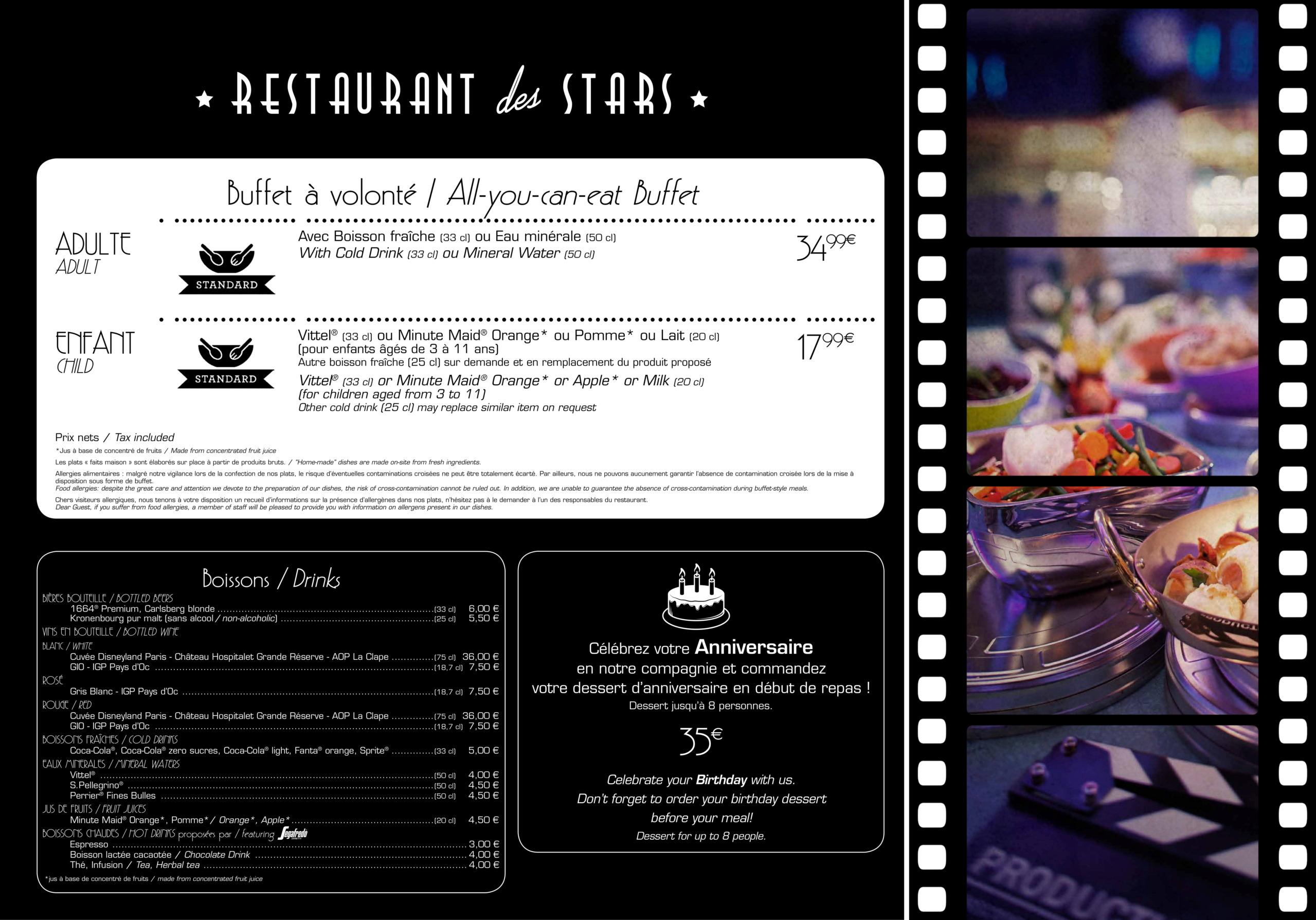 Menu ristoranti servizio Buffet Restau10