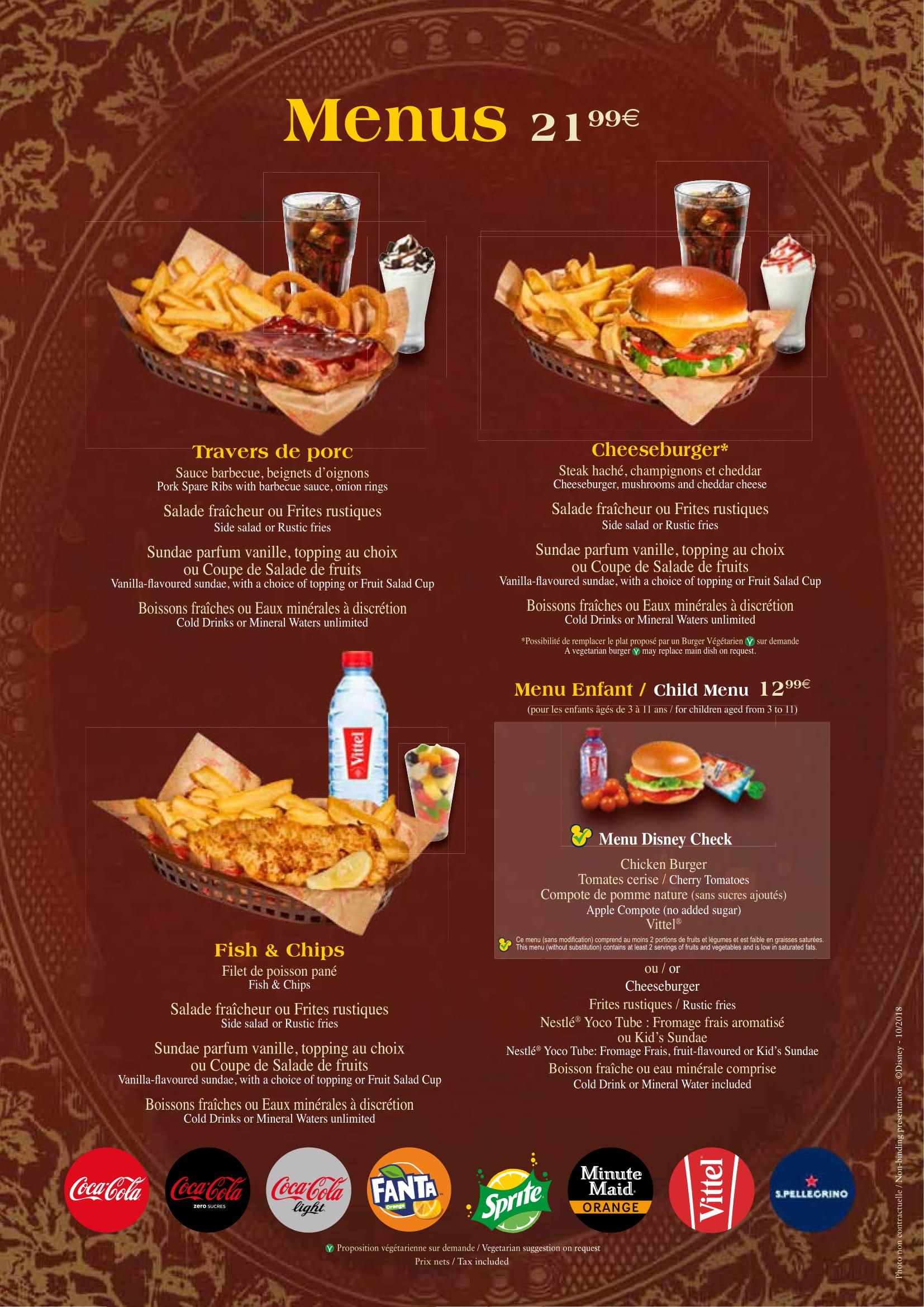 Menu ristoranti servizio al Tavolo The-lu11