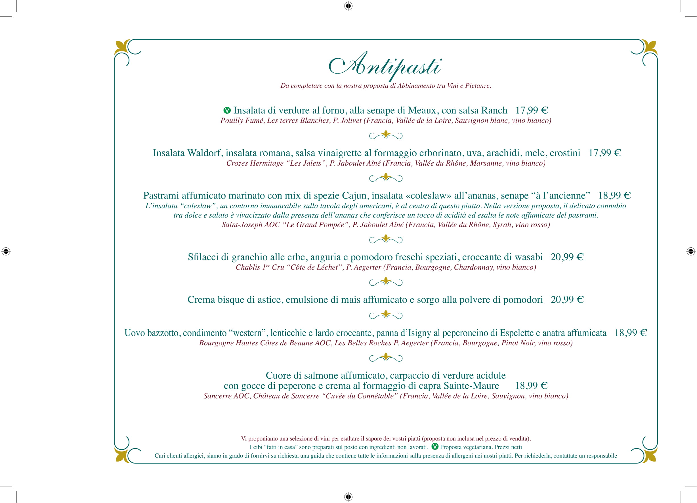 Menu ristoranti servizio al Tavolo Walts-12