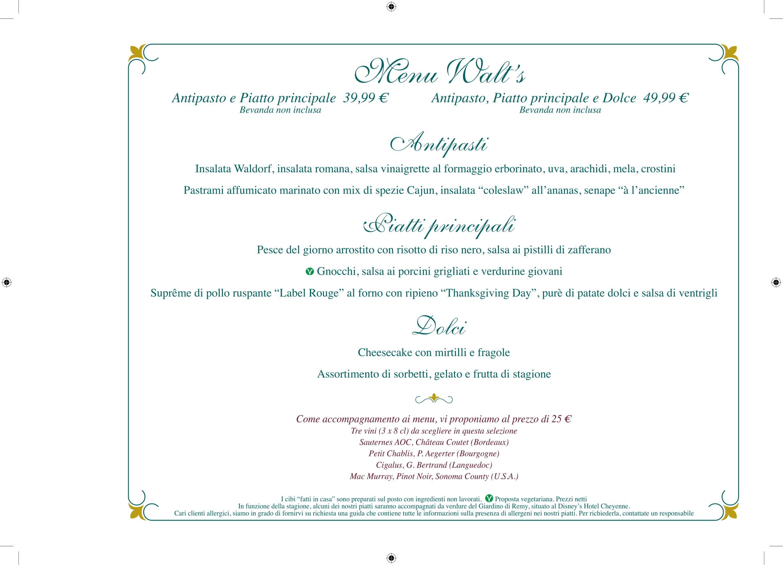 Menu ristoranti servizio al Tavolo Walts-16