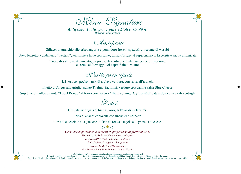 Menu ristoranti servizio al Tavolo Walts-17