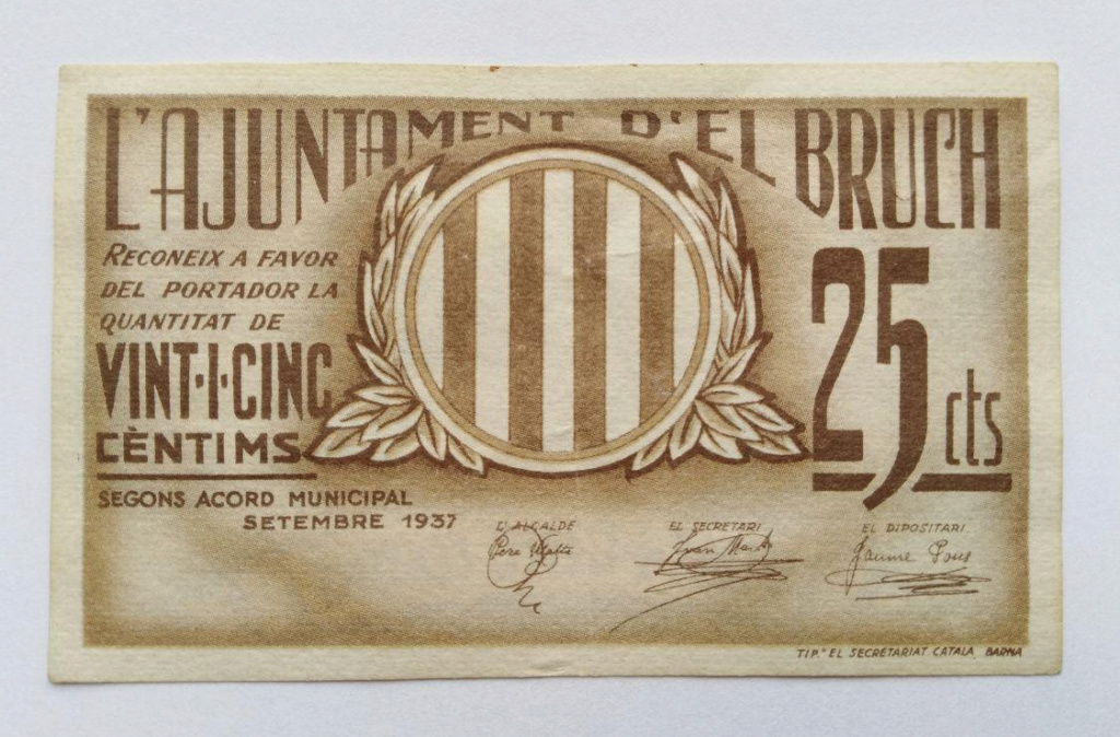 25 Céntimos El Bruc, 1937 Photo_17