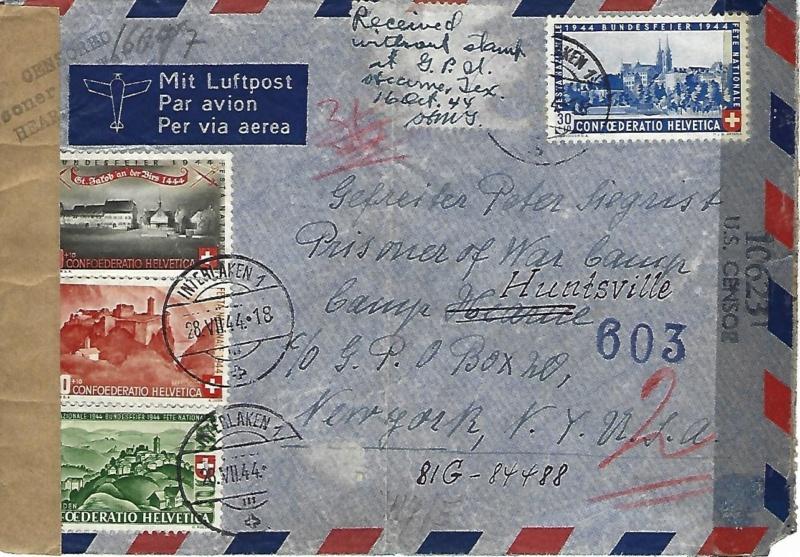 Kriegsgefangenenlager Hearne - Texas 19440711