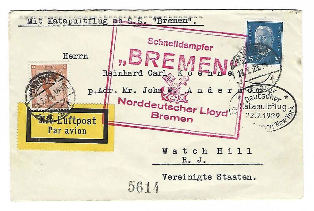 "Katapultpost ab S.S. ""Bremen"" Scan10"
