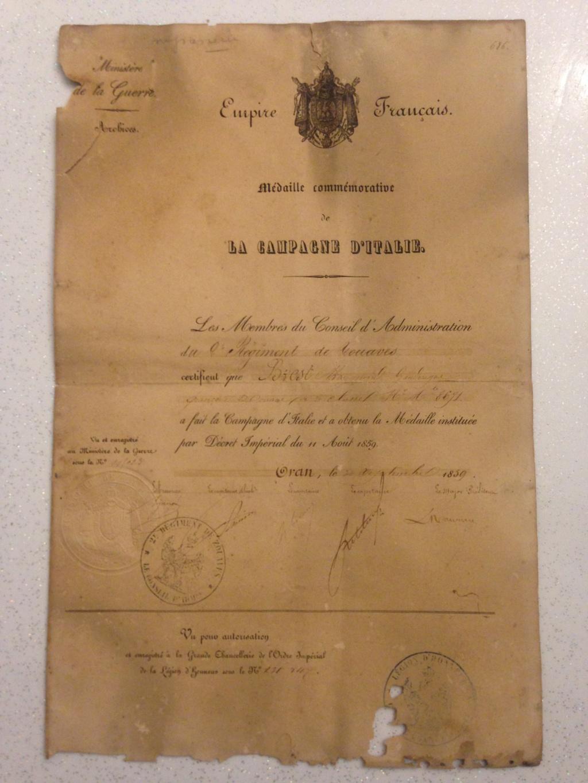 demande d'authentification et estimation Italie11