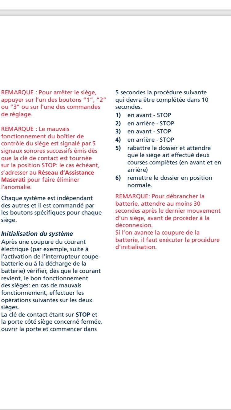 Problème siège maserati granturismo Fd90c710