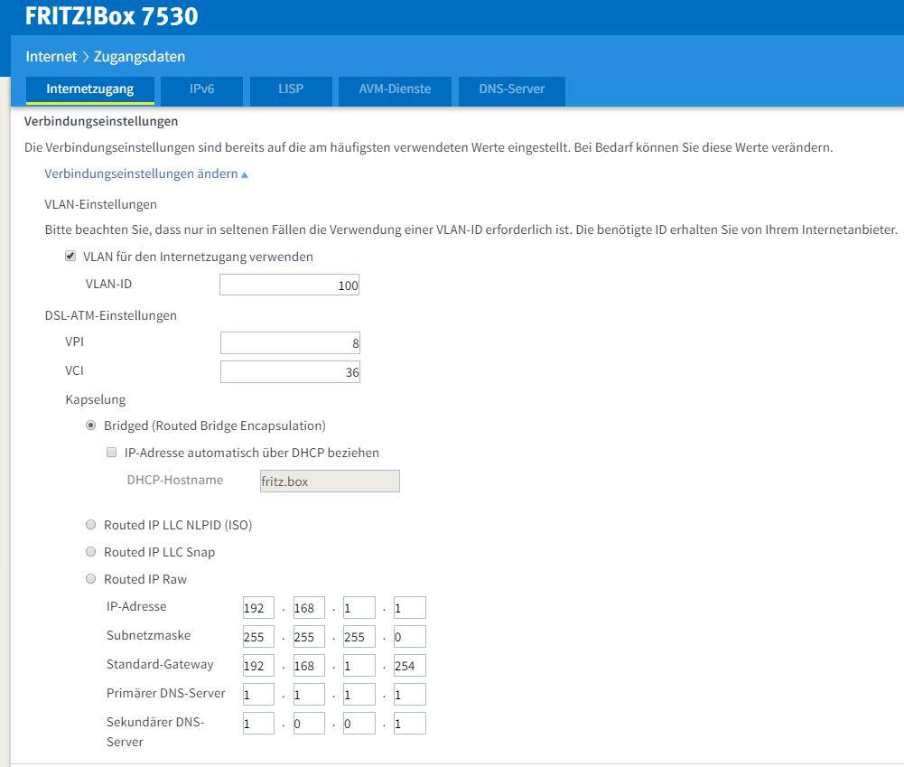 FTTC con Fritz!Box 7530 e Fastweb 410